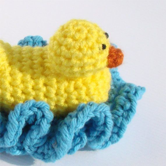 cuddlebugkids Duck Washcloth Scrubbie Bath Toy PDF Crochet Pattern ...