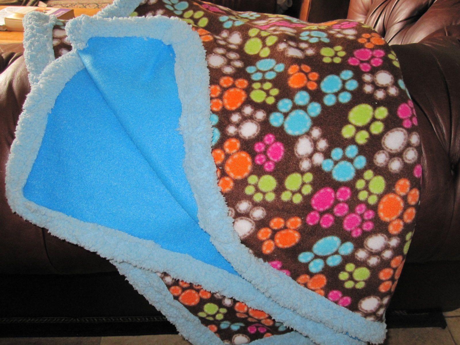 bright doggie blanket