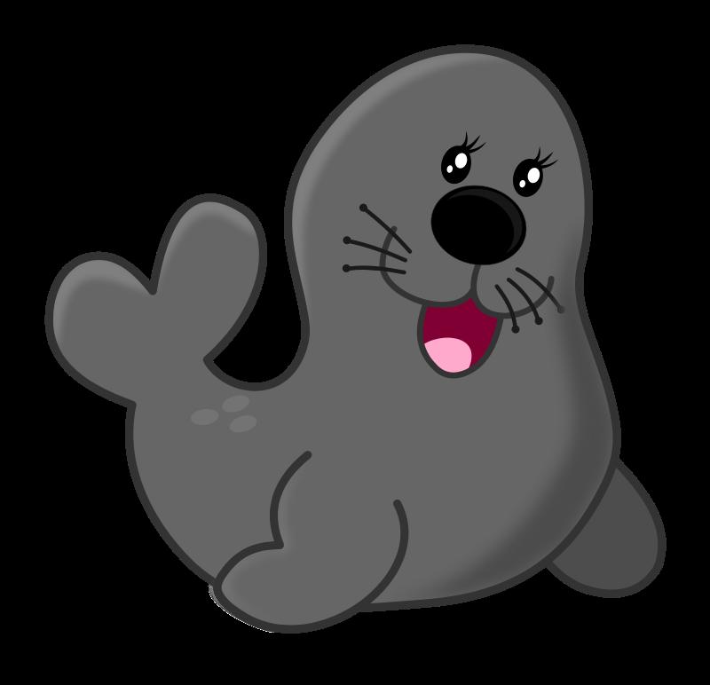 Free To Use Public Domain Seal Clip Art Cute Animal Drawings Seal Cartoon Free Cartoons