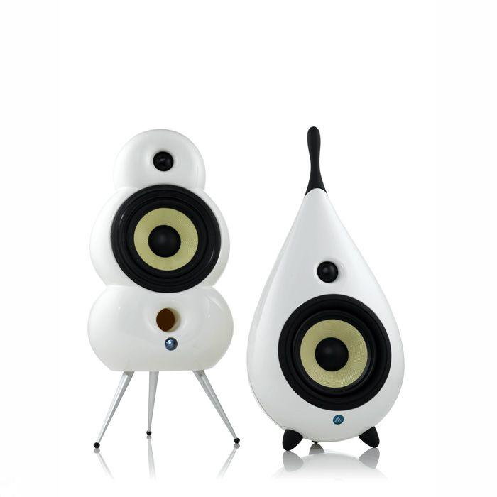 scandyna - drop speakers white | panik design | audio | pinterest