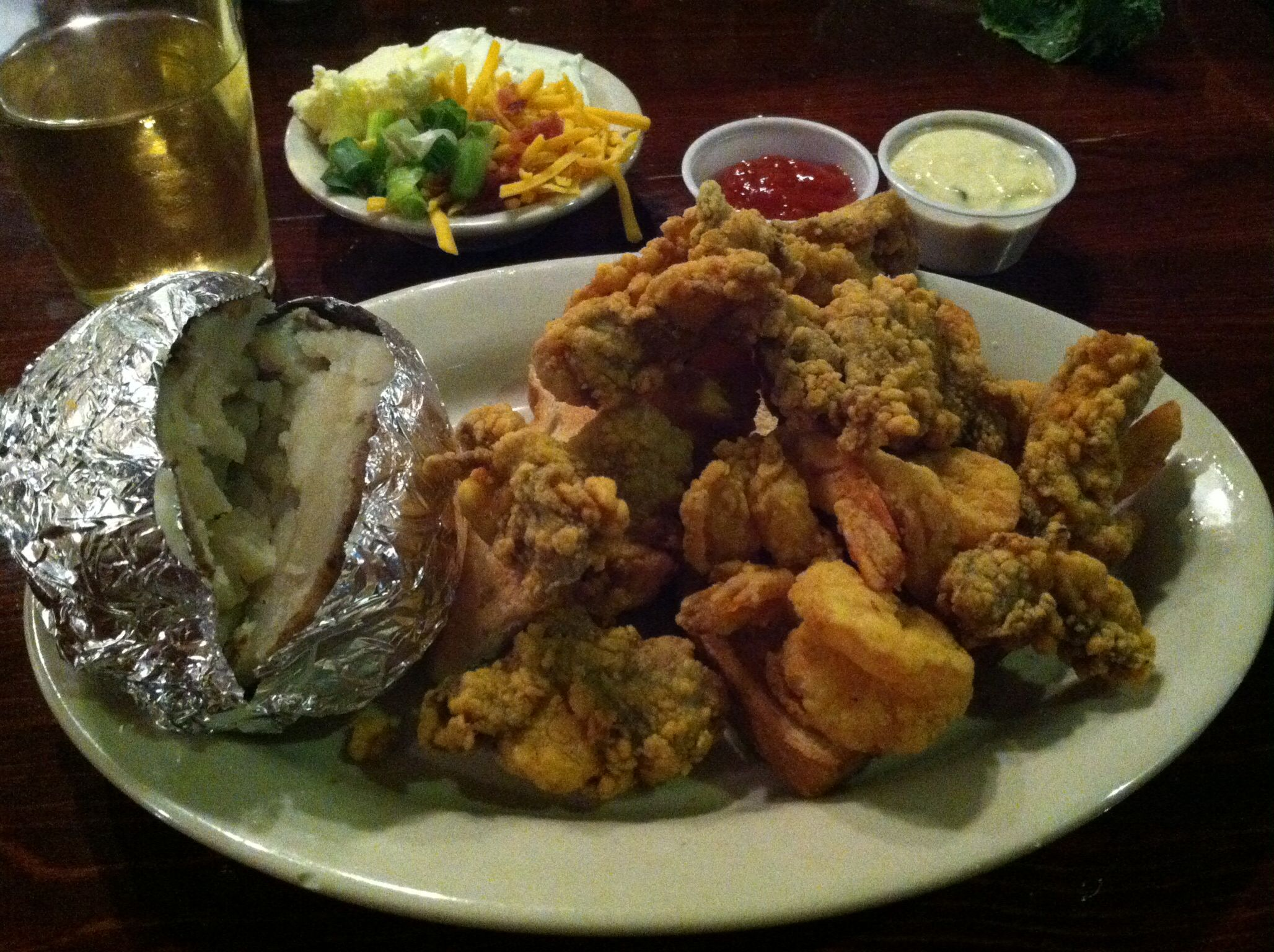 Vera S Seafood Restaurant In Slidell Louisiana Fried Oyster And Shrimp Plate 4 5 14