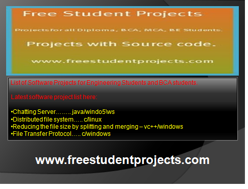 List Of Software Projects For Engineering Students And Bca