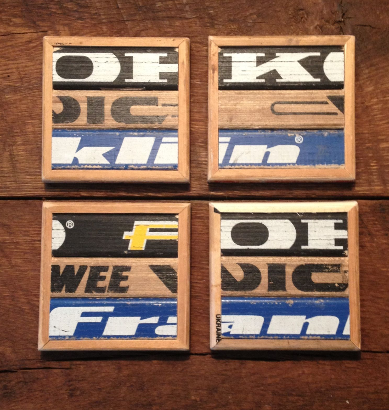 Repurposed Hockey Sticks! Set Of 4 Custom Made Coasters