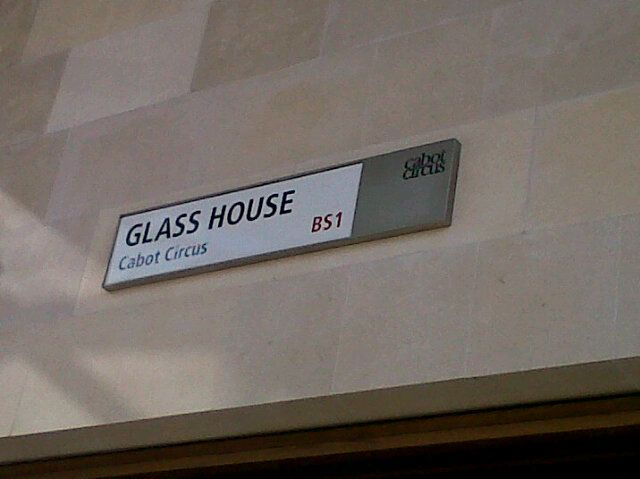 Lily Anne Davies found it! The Glass House (in Bristol) ...