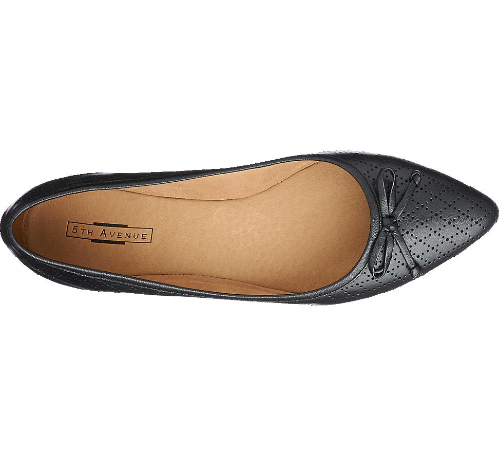 Skorzane Baleriny Damskie 5th Avenue 1141210 Shoes Flats Fashion