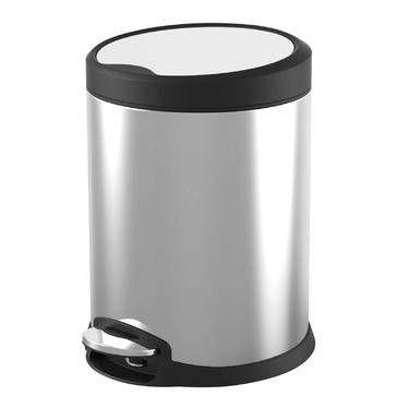 Primaries 5l Stainless Steel Pedal Bin Metal Kitchen Stainless