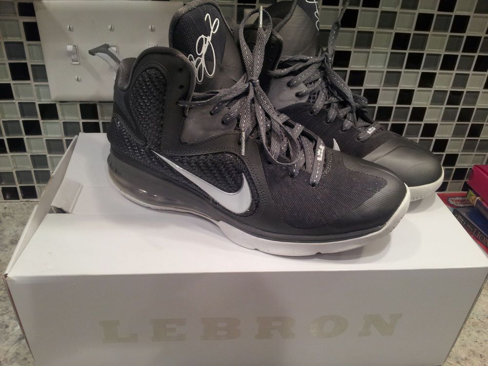 buy popular f3e87 6ad13 Nike Lebron 9 IX Cool Grey White Men 469764 007 Basketball Shoe Size 9