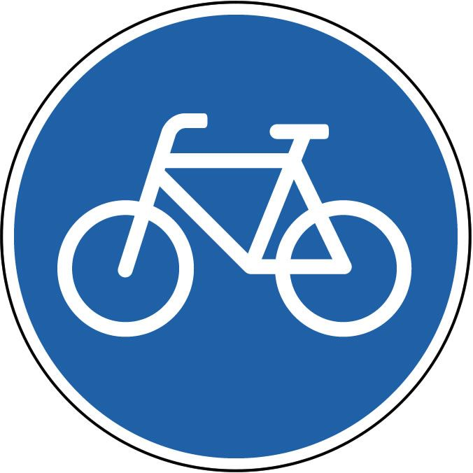 Bicycle Symbol Sign Wall Decals Wall Stickers And Decal Murals Wallmonkeys Com Traffic Signs Signs Road Signs