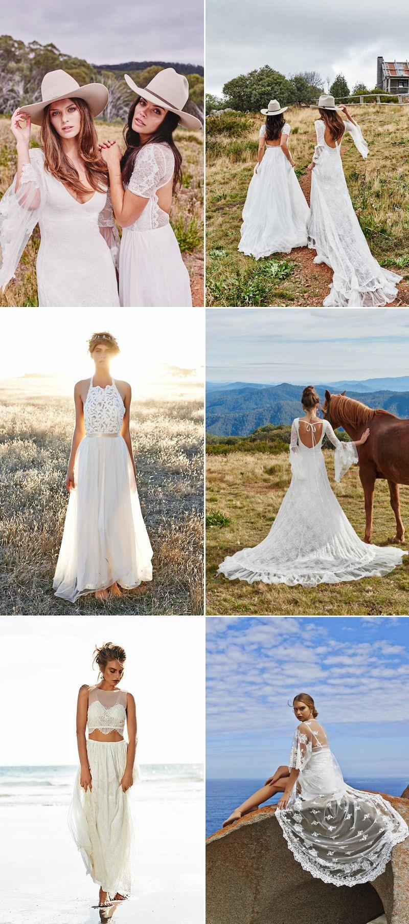effortlessly beautiful bohemian wedding dress wedding dresses