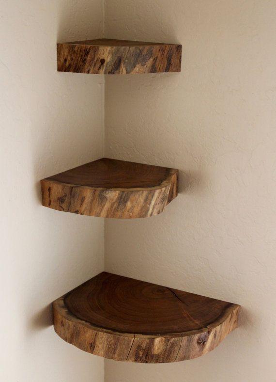 foto de Floating Shelves Live Edge Free Shipping (US) Wall Shelves Mesquite Set of 3 Corner