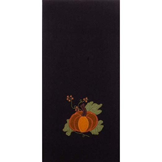 Home Collections Embrace fall with this lovely rustic piece with a pumpkin design Home Collections by Raghu Black Pick A Pumpkin Towel