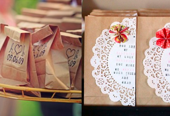 How To Dress Up Brown Paper Bags For A Wedding Wedding Ideas Diy