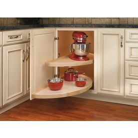 Best Rev A Shelf 2 Tier Wood Half Moon Cabinet Lazy Susan 640 x 480