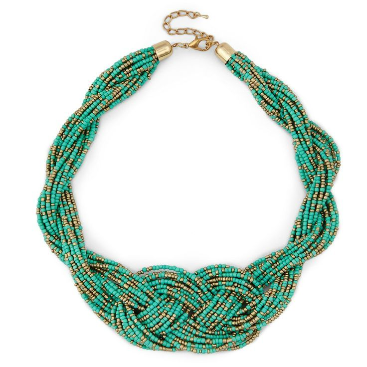 Sole Society Womens Beaded Statement Necklace Turquoise One Size From Sole Society ByhRgEnIZ