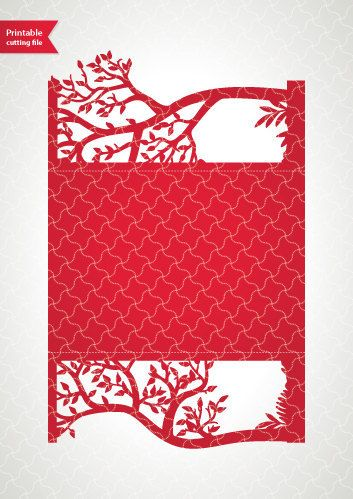 Printable digital template for laser cut wedding by ...
