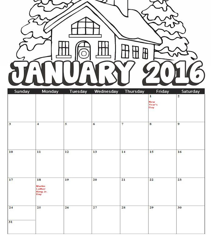 It is a picture of Comprehensive New Year Coloring Pages 2016