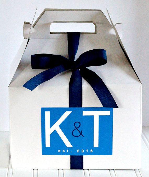 Modern Typography Initial Logo Wedding Welcome Box Sticker