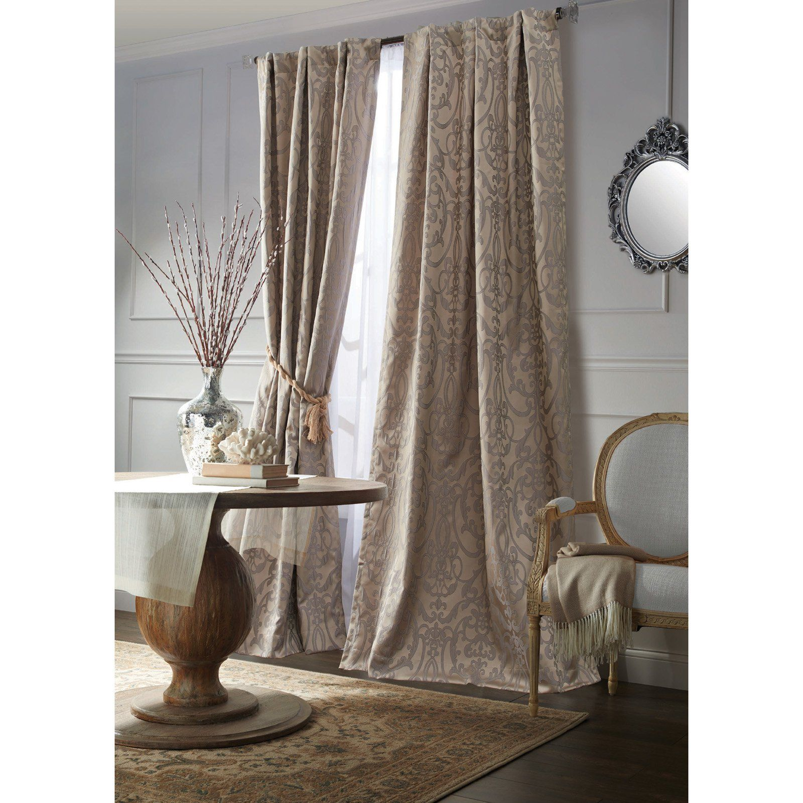 Better Homes Gardens Chandeliers Jacquard Window Curtain Set
