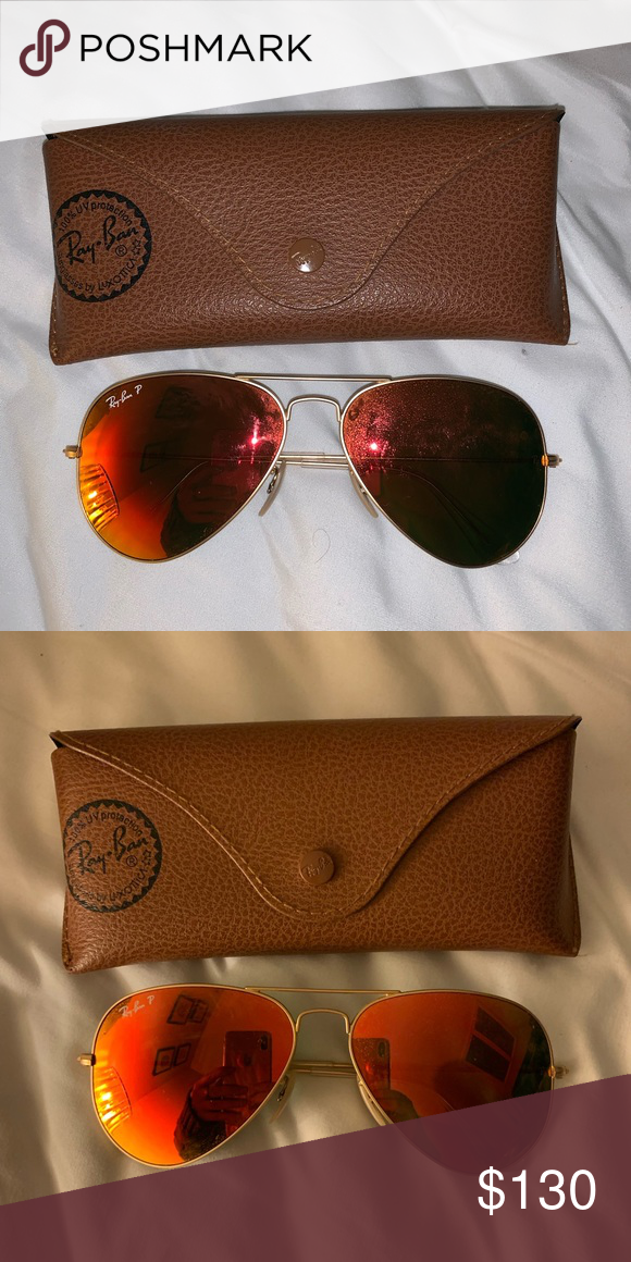 2e7581d113 Ray Ban aviator sunglasses Orange aviator rayban sunglasses Ray-Ban  Accessories Glasses