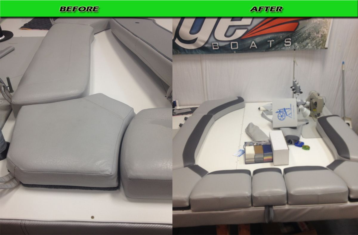 Tige before and after | Upholstery Work - Marine | Boat