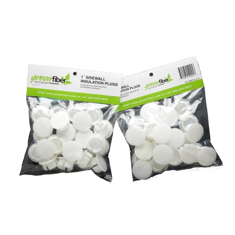 25 Pack 1 In White Plastic Hole Plug Fiber Insulation Plugs Holes