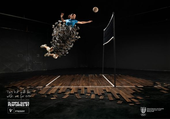 Freddy Volleyball Ads Of The World Commercial Photography Advertising Gymnastics Images Gymnastics Events