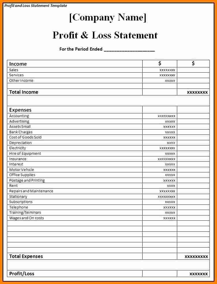 50 Awesome P L Statement Template In 2020 Profit And Loss Statement