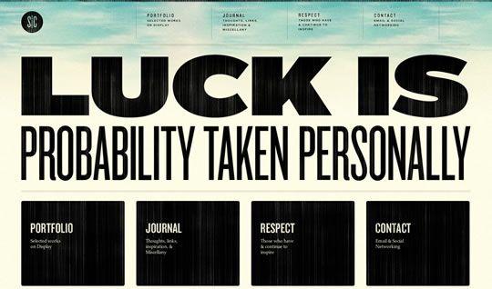 30 Examples Of Big Typography In Web Design Web Design Ledger Web Design Inspiration Web Design Well Designed Websites