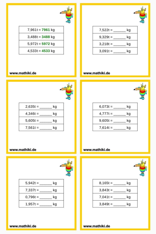 Umrechnung von Gewichten Klasse 20   mathiki.de   Mathe ...