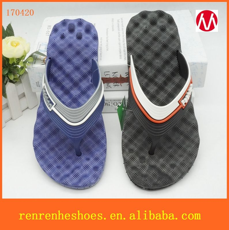 5e981829ace984 Source 2017 Customize Cheap Wholesale man PVC Rubber Summer Flop Flips  Beach Sandals on m.alibaba.com