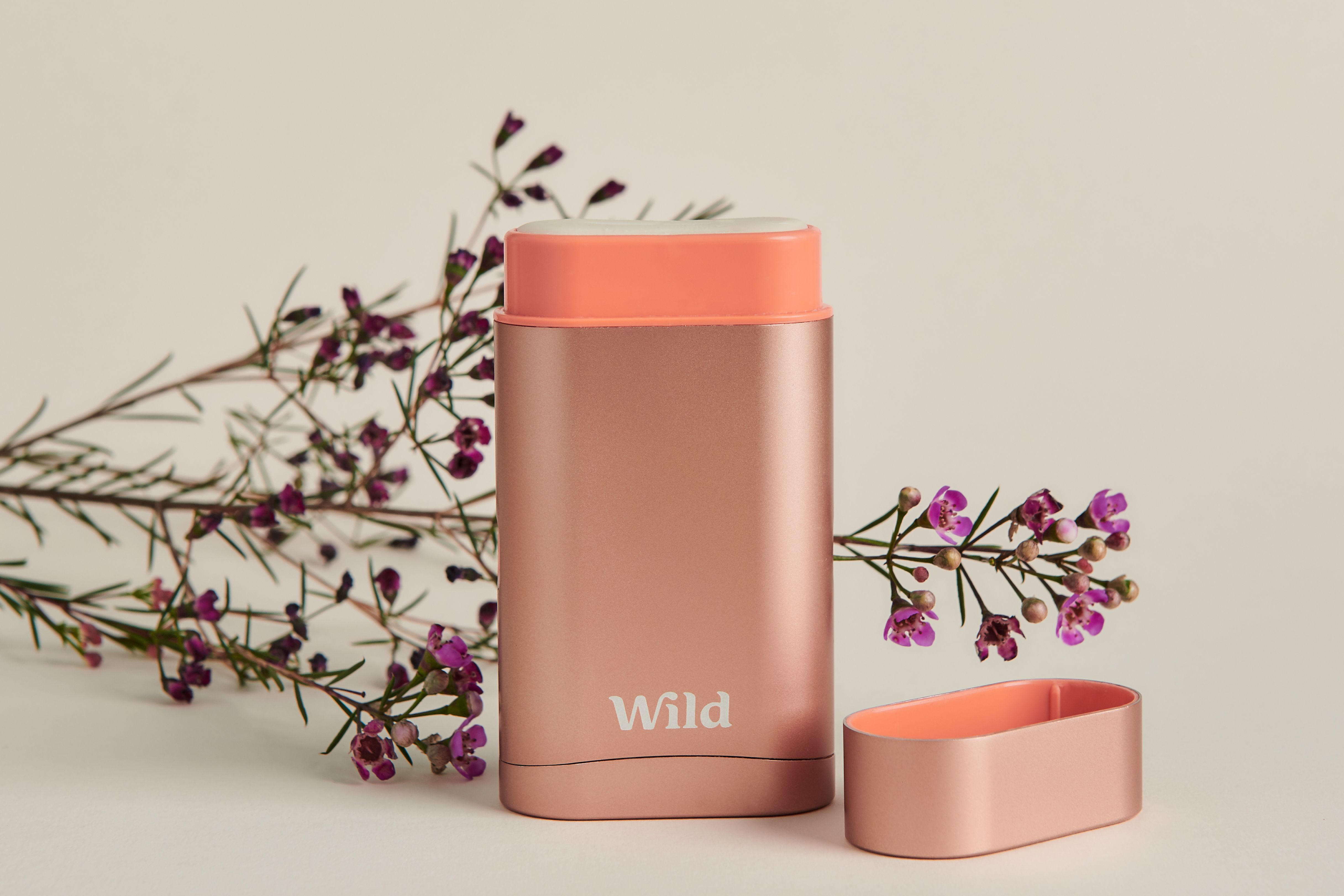 The new fully sustainable Wild natural deodorant is