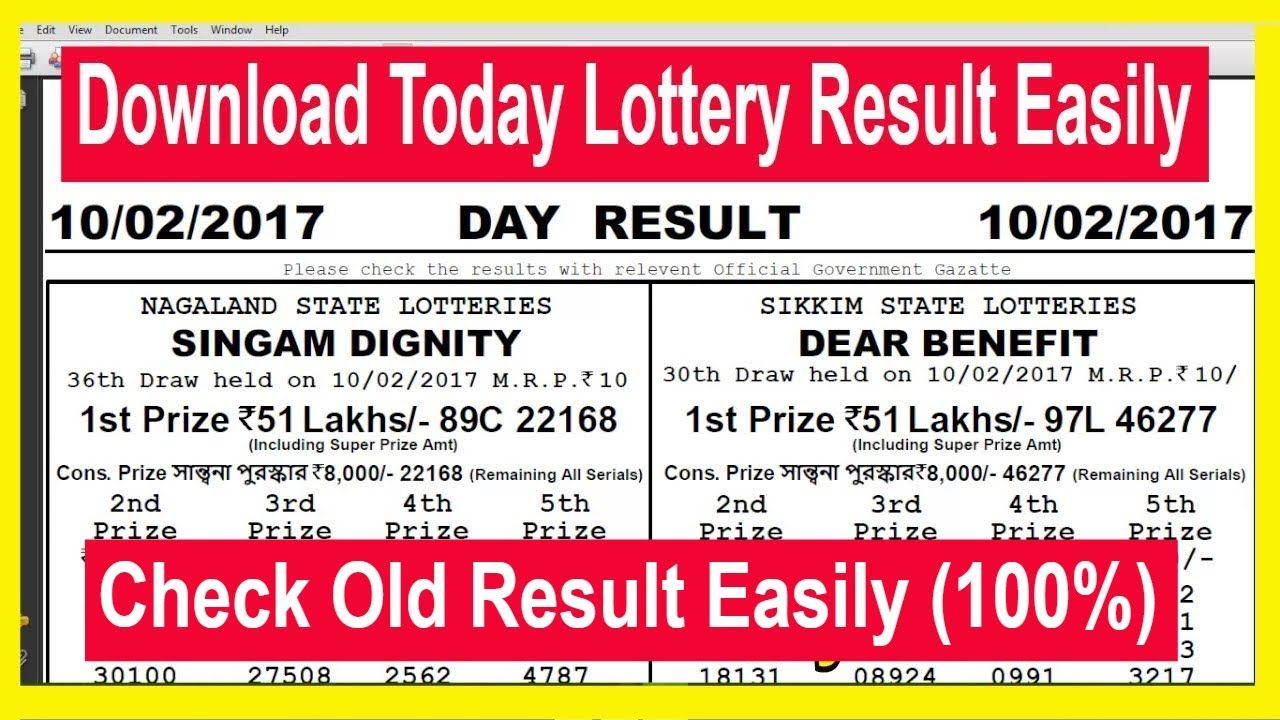 How To Download Nagaland State Lottery Today Result & Ol…   How To
