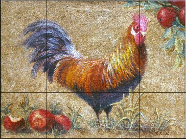 Decorative Wall Tile Murals Stunning Decorative Rooster Kitchen Tiles  Decorcottage  Pinterest Inspiration Design