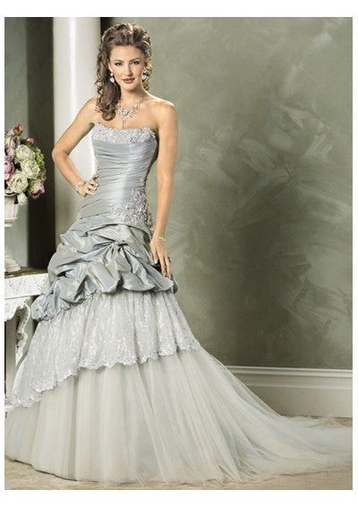Silver Wedding Dress Ideas : Shellsonthebeach: silver wedding dress by colors ~ gray
