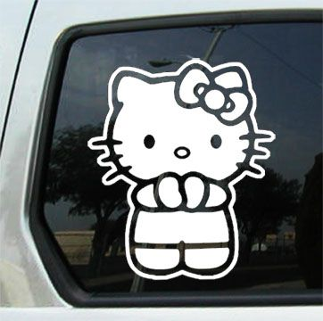 Image Detail For Figure Car Decals Custom Auto Decals Auto Window - Hello kitty custom vinyl decals for car