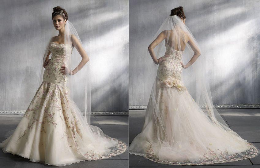86337181e273 Pink Lazaro Wedding Dress. When One Thinks Of Lazaro They Think Big ...