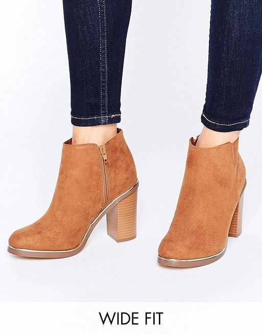 0064812476c8 New Look Wide Fit Metal Detail Ankle Boots | Pinterest | Ankle boots ...