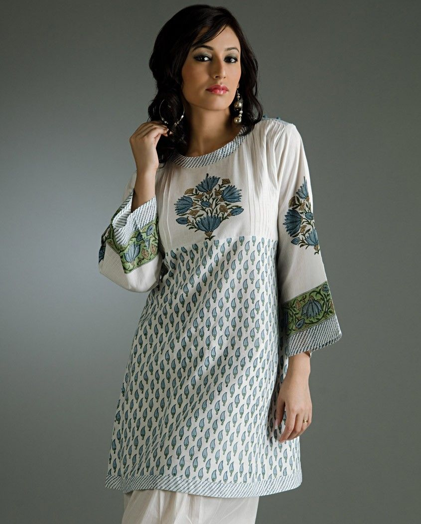 Simple Block Print Cotton Kurti