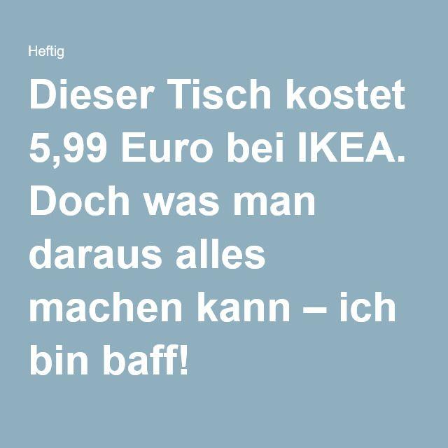 10 Tricks machen aus IKEA Tisch Wohnzimmerkunst. | Ikea