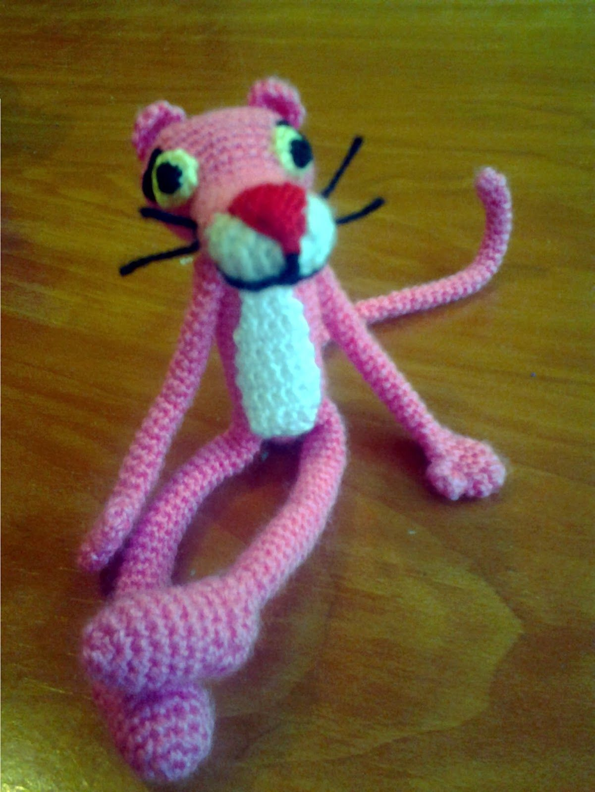Pantera rosa Amigurumi (tutorial schema).How to crochet pink ... | 1600x1201