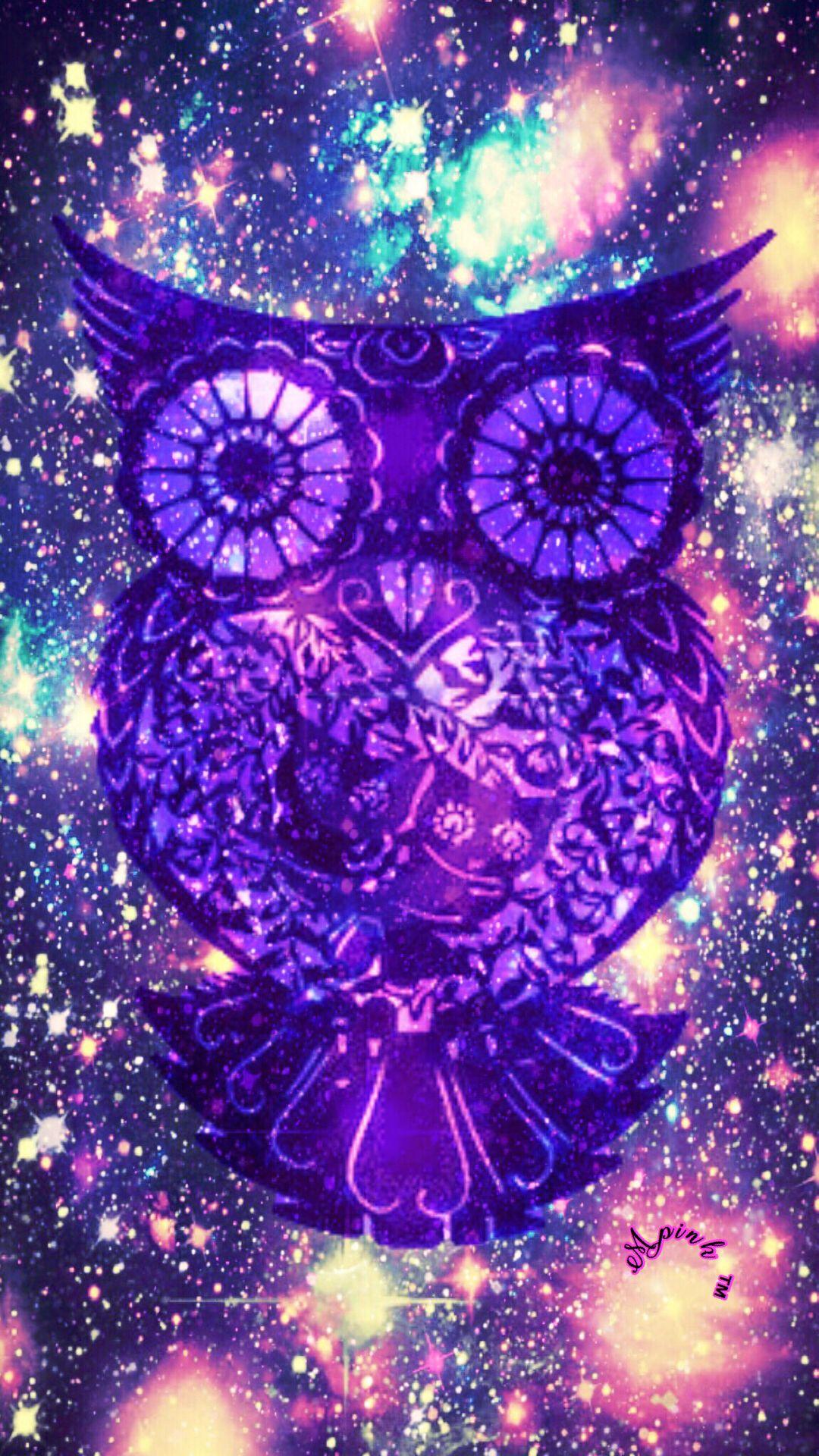 Star Galaxy Owl Wallpaper Androidwallpaper Iphonewallpaper Sparkle Glitter