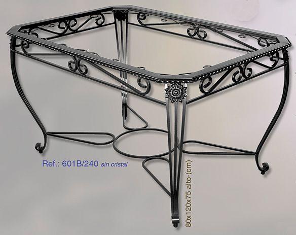 Mesa de forja modelo sevilla 601b modelo mesas y sevilla - Mesa de forja ...