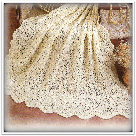 Crochet Afghan Pattern - Shells Wave Pattern - PDF 28061707 ...