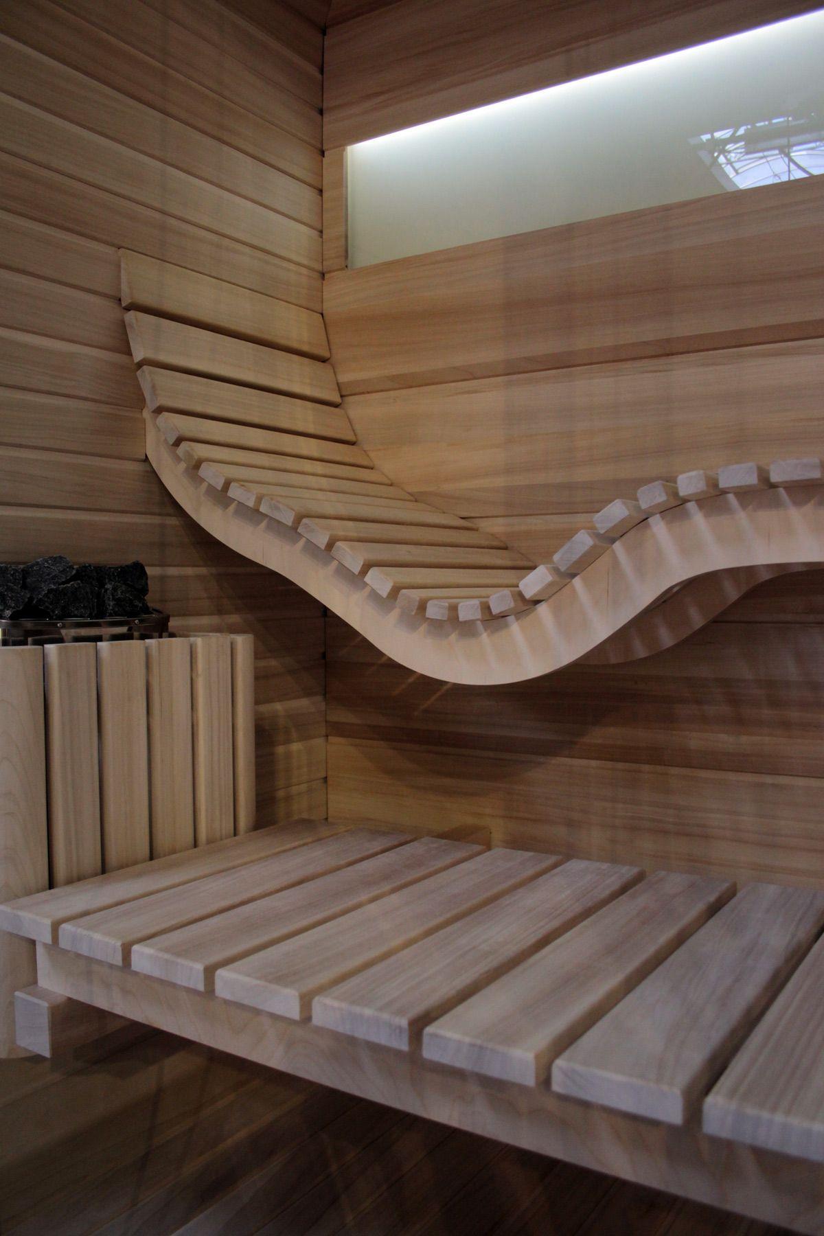 Sauna Mayo designed for Dyntar sauny Liegestuhl in der Saune ...