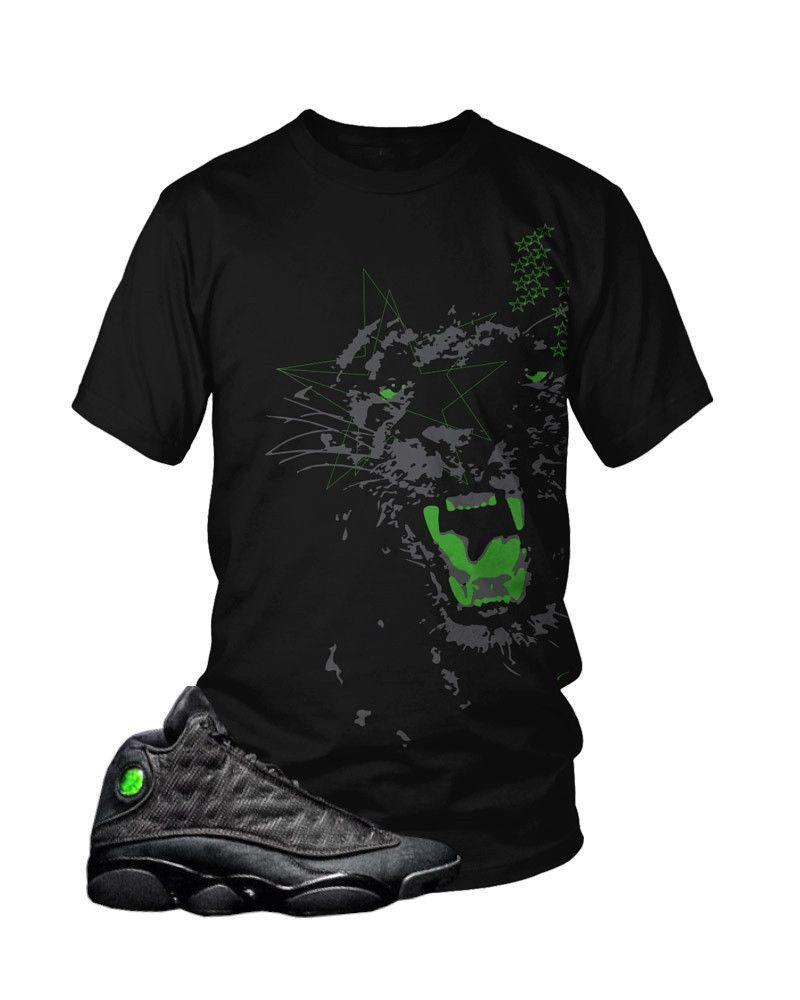 737276d854c ... NJ Drive Clothing - Jordan 13 Black Cat T-Shirt Jordan13 BlackCat13s Jordan  6 black cat matching ...