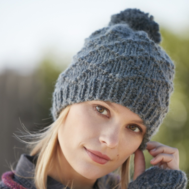 Spiksplinternieuw patroon breien haken dames muts herfst winter katia 6100 42a g PV-56