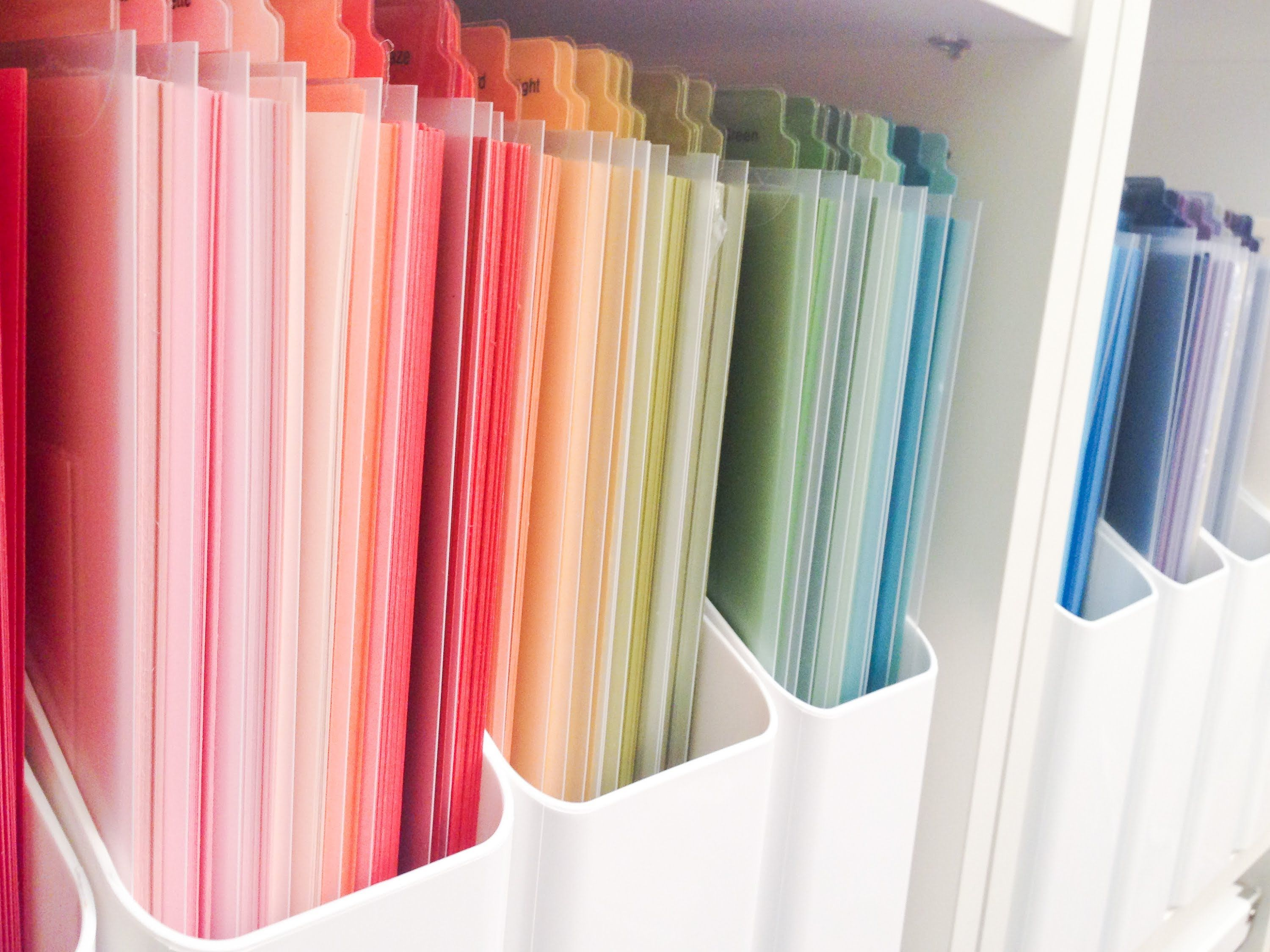 Scrapbook paper store - A Fabulous Video On How To Organize Your Solid Color Card Stock And