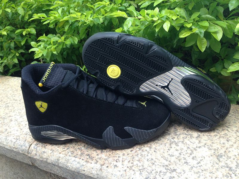 sports shoes 70b09 0702c Authentic Air Jordan 14 Black Suede Ferrari