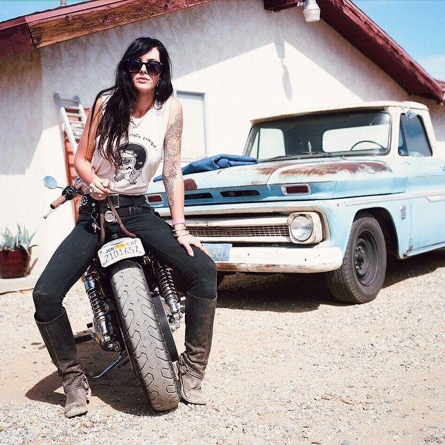 Anchor & Bolts #motorbike #tattoo #girl #pickuptruck
