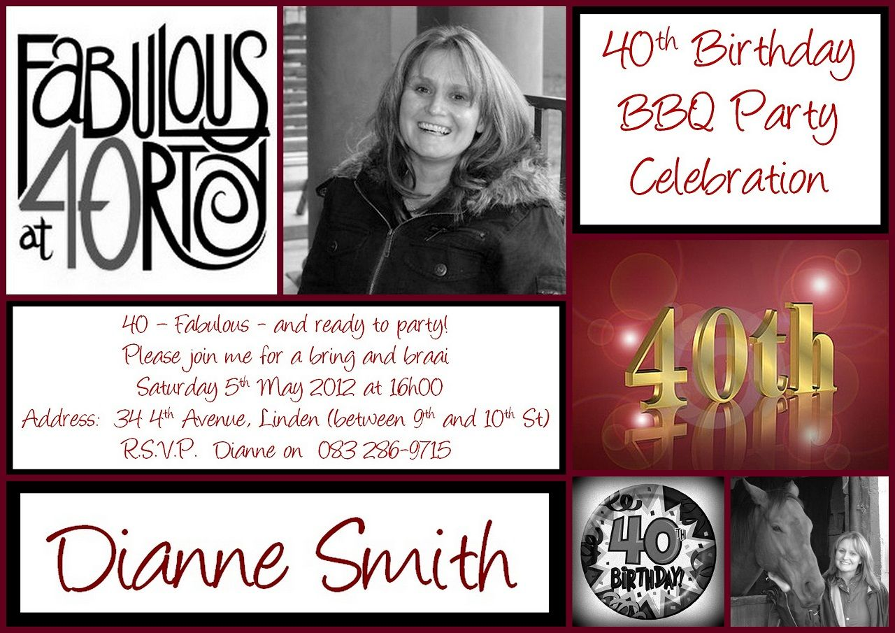 40th Birthday invitation | INVITATIONS | Pinterest | 40 birthday